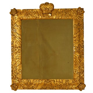 19th Century Northern European Mirror with Crowns For Sale