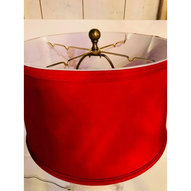 Traditional Vintage Alabaster Lamp For Sale - Image 3 of 6