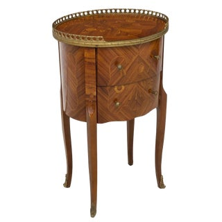 1920s French Louis XV Small Chest of Drawers Side Table For Sale