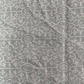 Raoul Textiles Celadon Green Linen Fabric Remnant For Sale