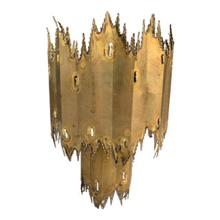 Mr Brown Brutalist Brass Moreland Chandelier For Sale