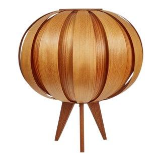 1960s Hans-Agne Jakobsson Wood Table Lamp for Ab Ellysett For Sale