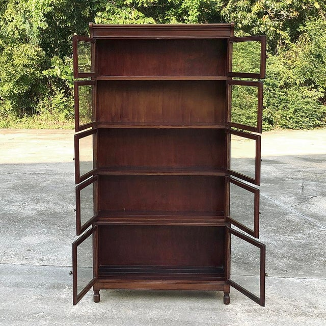 Antique English Mahogany Bookcase ~ File Cabinet For Sale In Dallas - Image 6 of 12