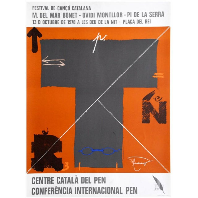 1978 Joan-Pere Viladecans Exhibition Poster Lithograph For Sale
