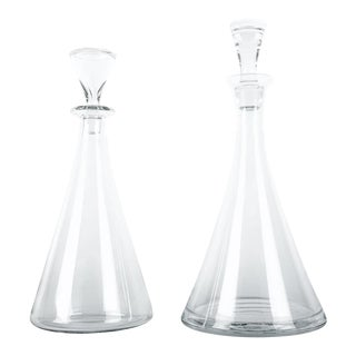 Mid-20th Century Baccarat Crystal Decanter Set - A Pair For Sale