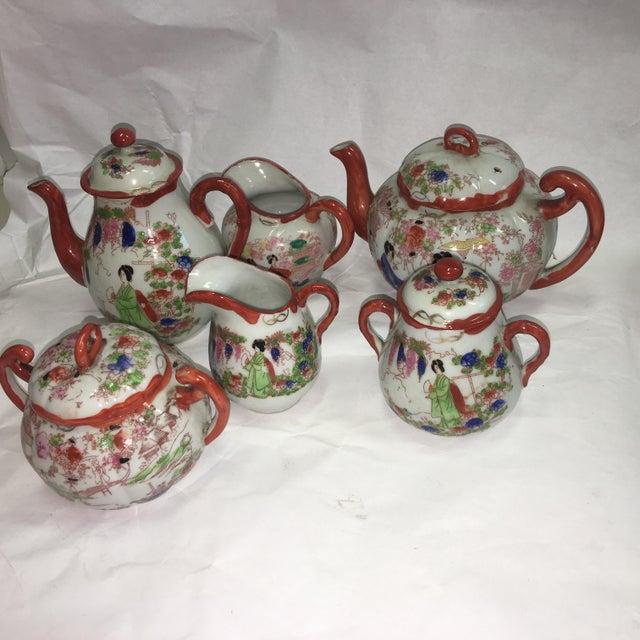 Japanese Porcelain Tea Set - Set of 22 - Image 3 of 10
