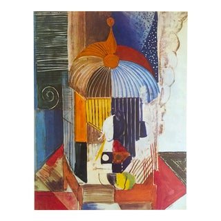 "Raol Dufy Vintage 1970 Fauvism Authentic Lithograph Print "" Bird Cage "" 1914 For Sale"