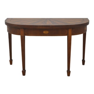 Federal Baker Historic Charleston Mahogany Game Table For Sale