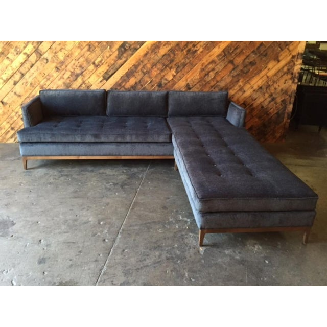 Mid-Century Style Custom Reversible Sofa Chaise Lounge For Sale - Image 4 of 8