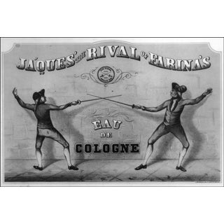 1800s Ja'Ques' the Rival of Farina's Ad Print For Sale