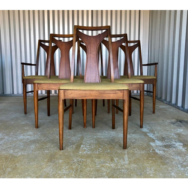 Mid Century Modern Kent Coffey Dining Chairs-Set of 6 For Sale - Image 10 of 10