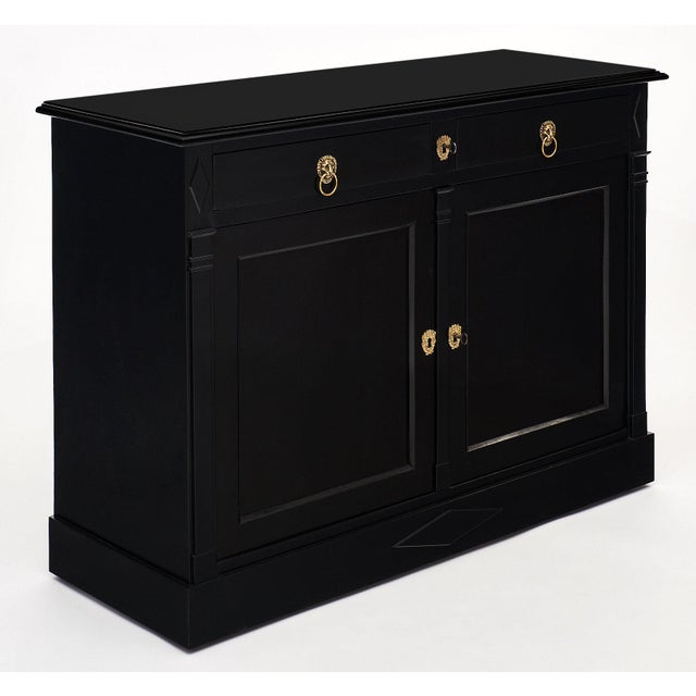 Traditional Ebonized Directoire Style Buffet For Sale - Image 3 of 11