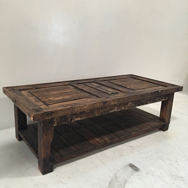 Rustic Wooden Coffee Table - Image 2 of 8