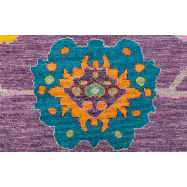 Contemporary Turkish Oushak Rug - 10′4″ × 13′4″ For Sale In Raleigh - Image 6 of 8