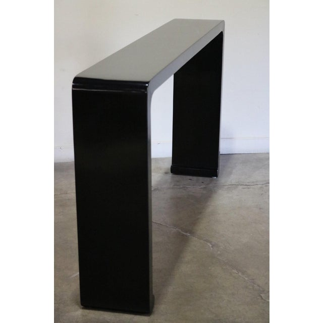 Black lacquer altar table from Jiangsu Province China 19th c.