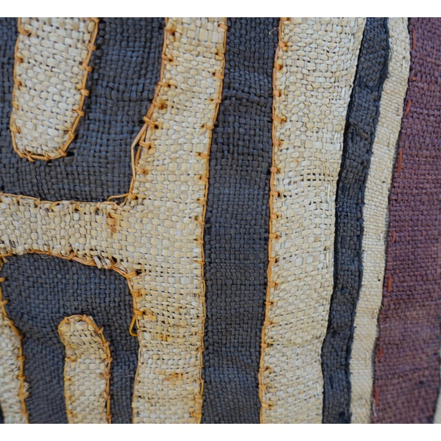 Large Rectangular African Kuba Cloth Pillow For Sale - Image 5 of 9