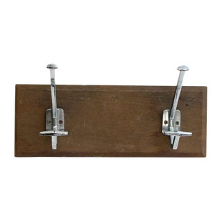 Double Hooks on Wooden Plank For Sale