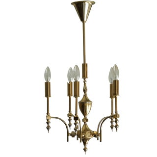 German Gold Plated Chandelier For Sale