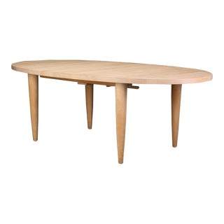 Danish Modern Large Oak Dining Table For Sale