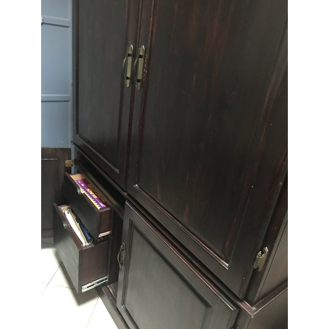Armoire Desk Self Contained Office Workspace For Sale - Image 10 of 11