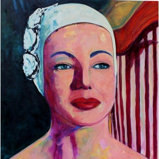 "Contemporary Figurative Painting, ""Swim Cap Buddha"" by T.S. Harris For Sale"