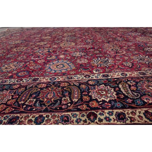 "Apadana - Antique Distressed Persian Mashad Rug, 11'11"" x 15'5"" For Sale - Image 5 of 7"