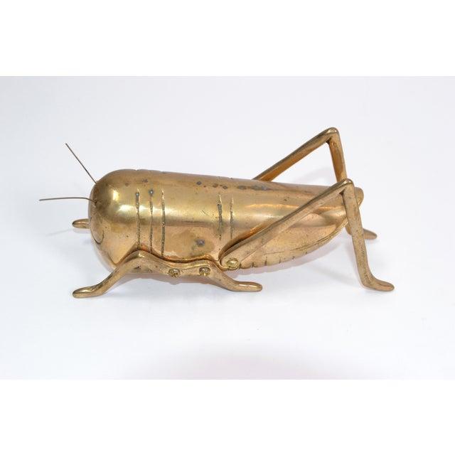 Italian Mid-Century Modern Brass Grasshopper Sculpture, Animal Sculpture 1970.