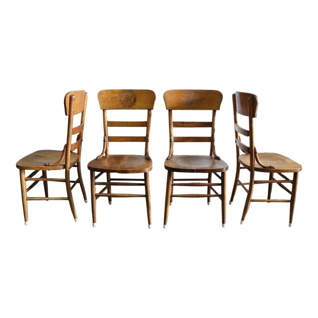 Pre Prohibition Jung Brewery Tavern Chairs - Set of 4 For Sale