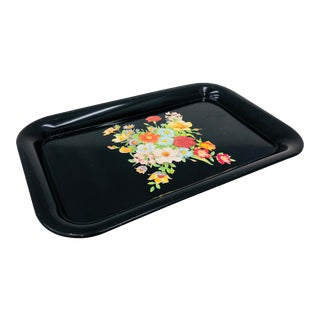 Vintage Floral Tray For Sale