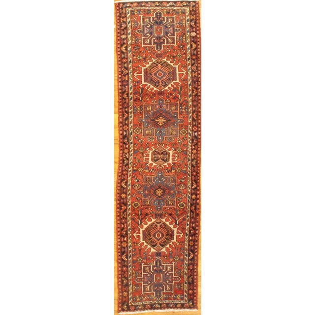 """1920's Antique Persian Karajeh Rug - 2'9""""x10'5"""" For Sale - Image 4 of 4"""