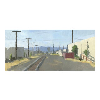 Railroad Tracks - Landscape Painting