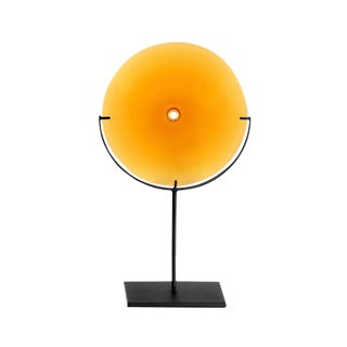 SkLO Pool Glass Object Small - Amber For Sale