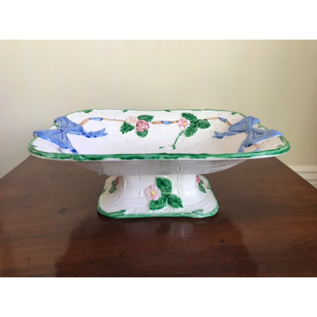 Vintage Painted Strawberry Compote on Stand For Sale In New York - Image 6 of 6