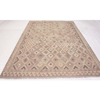 1990s Contemporary Geometric Coffee Wool Kilim Preview