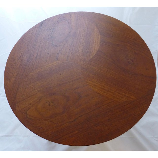 Danish Modern Peter Hdivt Style Side Table - Image 3 of 8