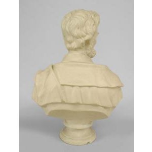 American 20th Century American Victorian style life-size plaster bust of Abraham Lincoln on a round pedestal base For Sale - Image 3 of 4