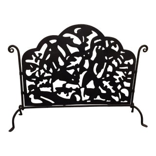 Hand Forged Metal Firescreen