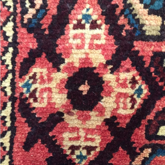 "Hamadan Hand Made Persian Rug - 2'5"" x 3'2"" - Image 7 of 9"