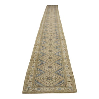 Antique Malayer Persian Runner with Traditional Style and Light Colors
