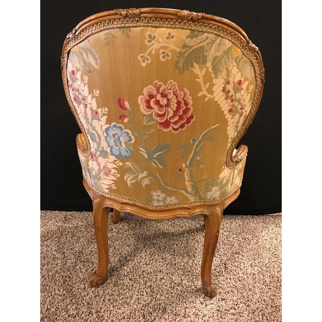 Gold Louis XV Style 2 Tone Gold Leaf Boudoir Chair For Sale - Image 8 of 9