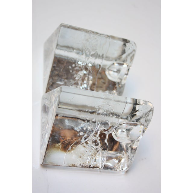 Transparent Timo Sarpaneva for Iittala 'Arkipelago' Candle Holders - A Pair For Sale - Image 8 of 11