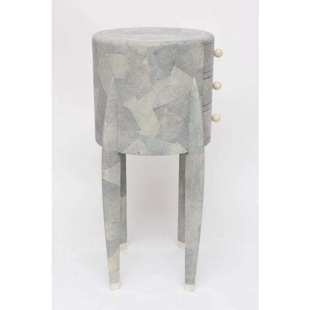 Green Diminutive Patchwork Shagreen Chest of Drawers by Maitland-Smith For Sale - Image 8 of 11