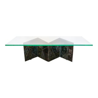 1960s Mid-Century Modern Paul Evans Zig Zag Coffee Table For Sale