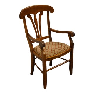 Nichols & Stone Gardener Ma Hard Rock Maple Country French Arm Chair For Sale
