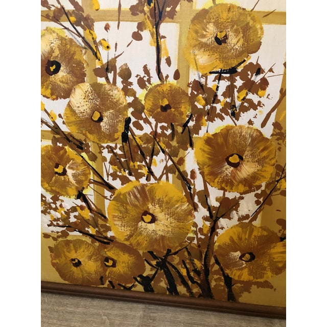 1960s 1960s Mid-Century Style Floral Still Life Painting, Framed For Sale - Image 5 of 8