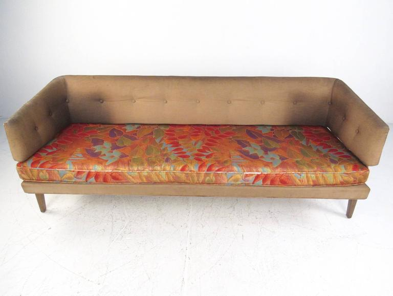 This Stunning Vintage Sofa By Edward Wormley For Dunbar Features A Tufted  Sculptural Seat Back With