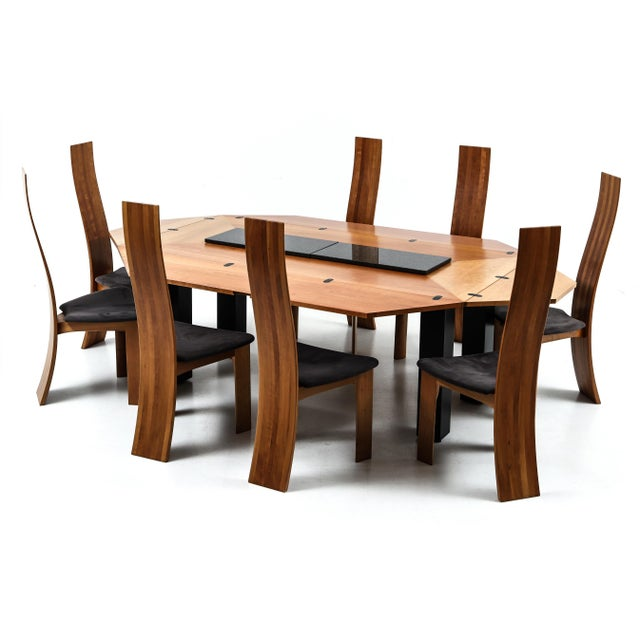 Set of Eight Danish Cherry-Wood Dining Chairs by Bob Og Dries Van Den Bergh For Sale - Image 4 of 6