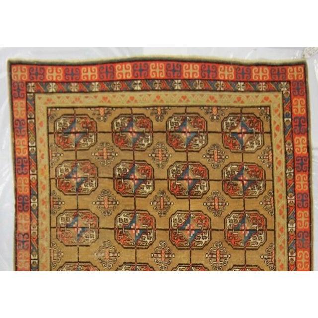 Vintage Turkistan Samarkand Rug - 5′ × 10′ For Sale - Image 4 of 5