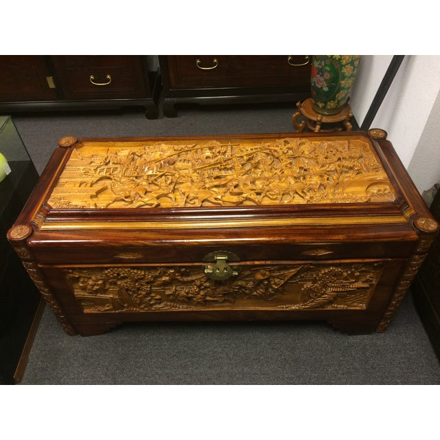 Ornate Hand-Carved Asian Chest - Image 2 of 11