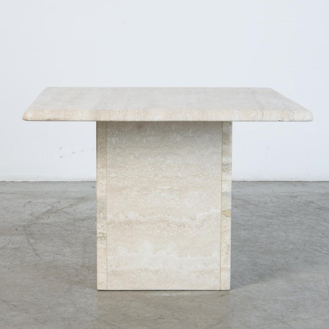 Mid-Century Modern Italian Travertine Coffee Table For Sale - Image 3 of 6